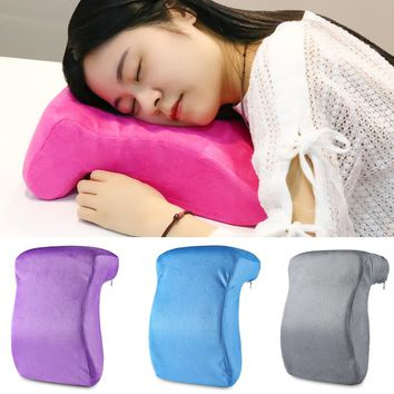 Slow Rising Memory Foam Pillow Latex Neck Office Desk Chair Nap Pillow Cushion Sciatic Nerve Pain Relief Cervical Health Care