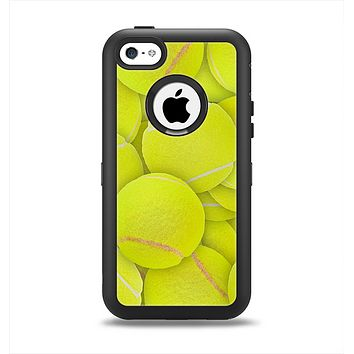 The Tennis Ball Overlay Apple iPhone 5c Otterbox Defender Case Skin Set