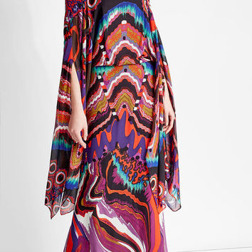 Printed Silk Dress - Roberto Cavalli | WOMEN | US STYLEBOP.COM