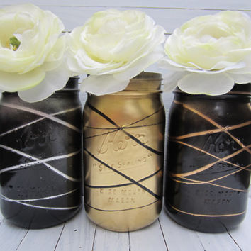Mason Jar Decor, Home decor, Wedding decor, Office decor, Baby Shower decor, quart size
