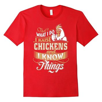 I Raise Chicken T Shirt Funny Gift Mom Mommy Dad Grandma