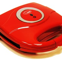 Kitchen Electric 2 Slice Sandwich Toast Toaster Maker Sandwich Press Red 800 Watts Non Stick