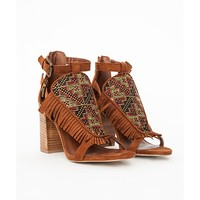 Missguided - Tassel Aztec Heeled Sandals