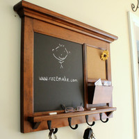 Mail organizer coat rack mail holder from legacystudio on for Wall mail organizer with cork board