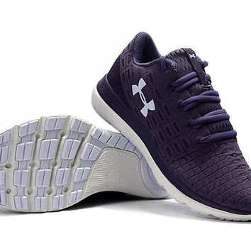 HCXX B218 Under Armour Slingflex Threadborne Flyknit Causal Breathable Running Shoes Purple