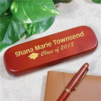 Free Engraving Personalized Custom Graduation Wooden Pen and Box Class of 2018
