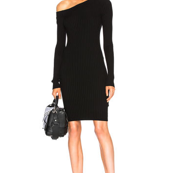 Helmut Lang One Shoulder Dress in Black | FWRD