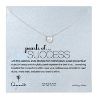 Dogeared, Large Pearls of Success White Pearl Necklace, Sterling Silver 18 inch