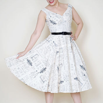 Saturday Night Pin Up Dress in McCalls Pattern Print