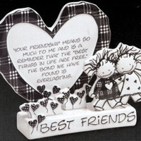 Best Friends Sculpted Greeting Card-Marcie-Children of the Inner Light