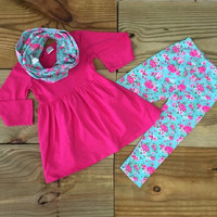 Infant Vintage Rose 3 Pc Outfit