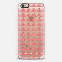 peach sparkle geo transparent iPhone 6 case by Sandra Arduini | Casetify