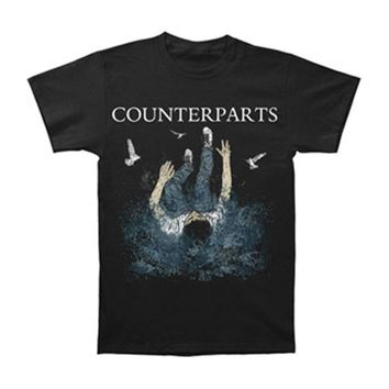 Counterparts Men's  The Current Will Carry Us T-shirt Black
