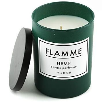 Flamme Candle Company Hemp Scented Jar Candle :: 11 Oz, Soy Wax