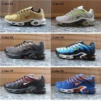 Cheap Hight Quality Brand Sports Running Shoes New Air Cushion TN For Men Black White