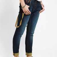 Urban Outfitters - Bianco Suspender Skinny Jean
