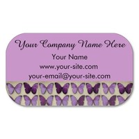 Vintage Purple Butterflies Business Cards