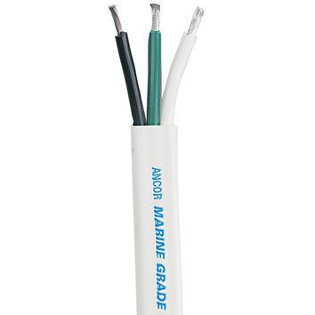 Ancor White Triplex Cable - 14-3 AWG - Flat - 250' [131525]