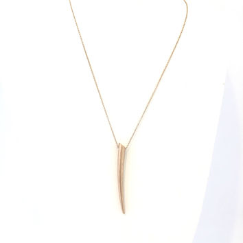 Tusk Long Necklace In Gold
