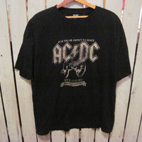 ACDC, For Those About to Rock,  British Tour ' 82 T-Shirt, Size XL