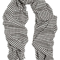 Saint Laurent - Houndstooth wool-blend scarf