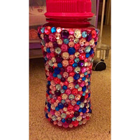 Colorful Pink Rhinestone Water Bottle