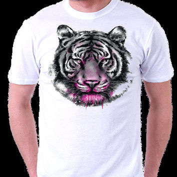 Neon Tiger T-Shirt Big Cat Siberian White Tiger Shirt on Black or White Shirt Bengal Tiger