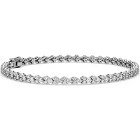 Diamond Garland Tennis Bracelet in 18k White Gold | Blue Nile
