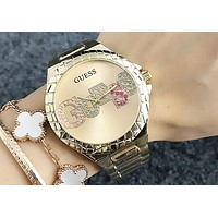 GUESS 2018 men and women with the same paragraph simple and stylish quartz watch F-Fushida-8899 4