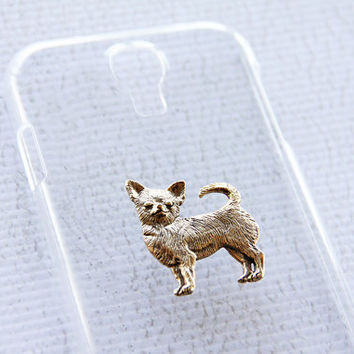 Chihuahua Trendy Galaxy S4 Clear Super Glossy Protective Smart Phone Case iPhone 6 Case
