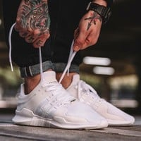 Adidas EQT Equipment Support ADV Triple White Sprot Shoes Running Shoes Men Women Casual Shoes BA8322