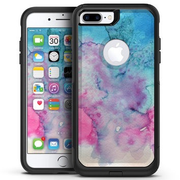 Blue 0021 Absorbed Watercolor Texture - iPhone 7 or 7 Plus Commuter Case Skin Kit