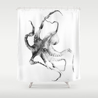 Octopus Shower Curtain by Alexis Marcou