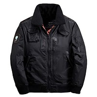 Men Bomber Jacket Thick Winter Parkas Army Military Motorcycle Jackets Men's Pilot Coat Flight Jacket Coat
