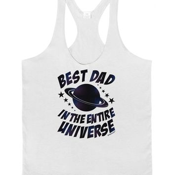 Best Dad in the Entire Universe - Galaxy Print Mens String Tank Top