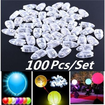 100pcs/set LED Balloon Lamp Decoration Light For Xmas Party Wedding Birthday Home Decor Lantern Supplies