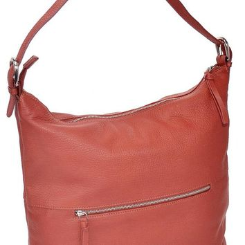 The Chelsea - Genuine Leather Handbag with Front and Back Zippered Pockets