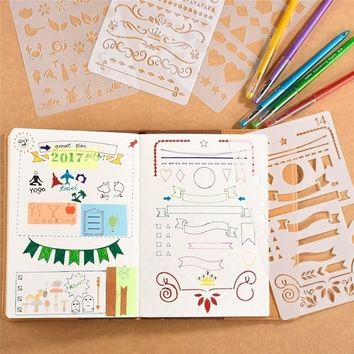 20 Pcs Bullet Journal Stencil Set Plastic Planner DIY DrawingTemplate Craft New