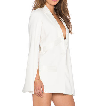 ELLIATT Colosseum Cape Dress in White
