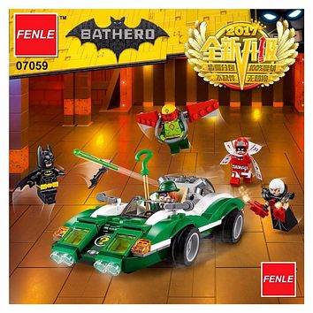 Batman Dark Knight gift Christmas 2017 lepin Super Heroes Batman Movie 07059 Compatible 70903 The Riddler Riddle Racer DIY Model Building Kit Blocks Gifts Toy AT_71_6