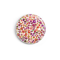 Round pin badge - Little flowers pattern - Camaloon US