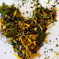 Goddess Atlanta Runner's Tea Bath, Organic Herbal Blend: Calendula, Arnica, Eucalyptus, Hibiscus, Essential Oils, Relaxing, Rejuvenating