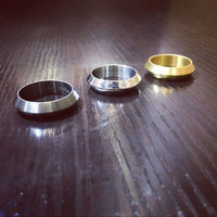 New Arrival Gift Jewelry Shiny Stylish Titanium Couple Ring With Thanksgiving Christmas Gift Box [9454100228]