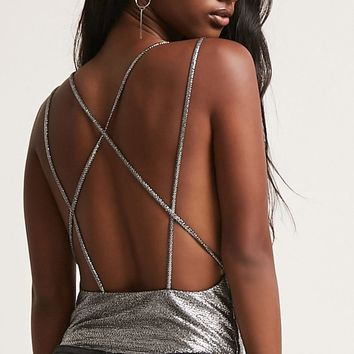 Strappy Metallic Bodysuit