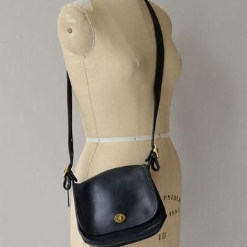 Coach Legacy Trail Saddle bag | vintage Coach purse | black Coach bag