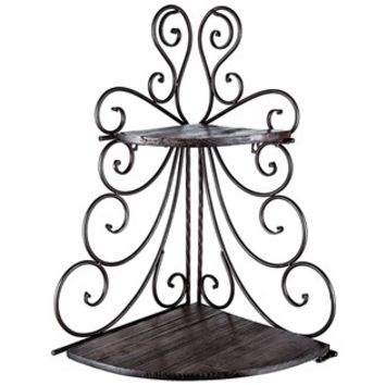 Iron & Wood 2-Tiered Foldable Corner Shelf | Shop Hobby Lobby