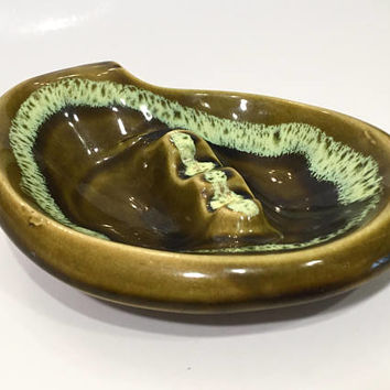 Mid Century Ceramic Ashtray, Vintage Ceramic Ashtray, Retro Made in USA