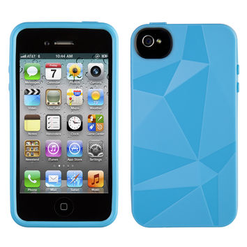 GeoSkin for iPhone 4S/4 - Cyan
