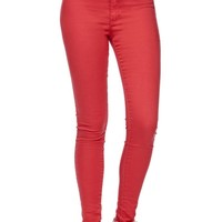 Bullhead Denim Co Uber High Rise Skinniest Jeans - Womens Jeans - Red -