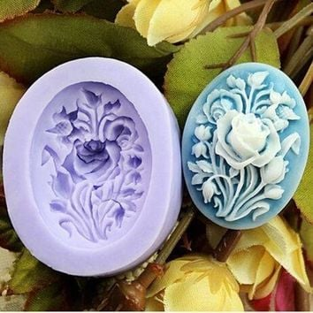 Rose Flower silicone mold fondant molds sugar craft tools chocolate mould soap candle molds for cakes Color Random = 5658099841